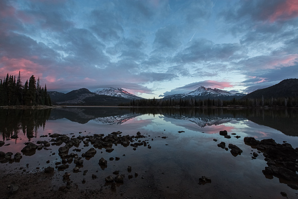 Sunrise at Sparks Lake, Oregon.