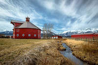 Barns and Mountains, Wallowa County, Oregon.
